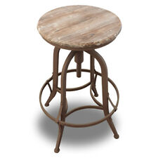 NEW! RUSTIC RETRO CHESTER BARSTOOL - STEEL ROTATING BROWN BAR STOOL-SET OF 2