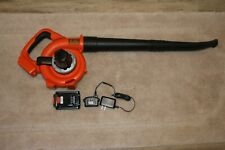 Black & Decker Lsw20 20v Lithium Ion Cordless Leaf Blower Kit Pre-Owned