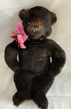 1990 Coconino Teddy Bear By Carol Black Orphan Of The Woods Personal Signed Foot