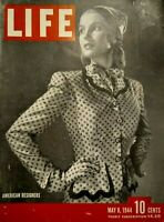 Life Magazine May 8 1944 WW2 Betty Grable Dieppe MacArthur Close Up