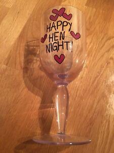 Hen Night Gift Glass