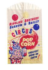 1950s RINGLING BROTHERS BARNUM & BAILEY CIRCUS POP CORN BAG NOS !