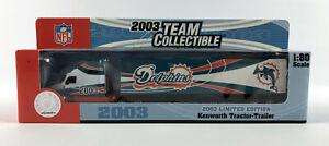 Miami Dolphins 2003 Tractor Trailer TruckDiecast Fleer Collectibles 1:80