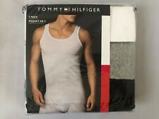 Tommy Hilfiger 3 pack White Grey Navy Classic Tank T-shirts Tee NWT