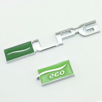 LPG & Eco Emblem Logo Badge auto aufkleber Metall car Sticker LPG and Eco Emblem