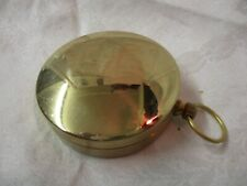 Vintage Compass with Brass Case plastic Ring for Degrees