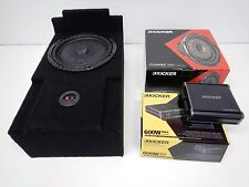 "2007 to 2014 GMC Yukon 12"" Enclosure w/ Sub, amp & Wiring Console Box 3/4"" MDF"