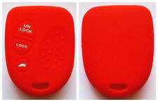 RED 3 BUTTON SILICONE CAR KEY COVER FOR HOLDEN COMMODORE WH WK WL VS VT VX VY VZ