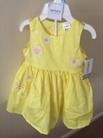 Carter's Baby Girl 3M Frilly Easter Spring Dress Yellow Ruffles Carters NWT