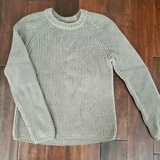 JENNI KAYNE Olive/Sage Cotton Fisherman Sweater Sz Small $295