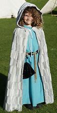 BAMBINO pagan-hand fasting-cosplay-larp-wicca Invernale Finta Pelliccia MANTELLO TAGLIA UNICA