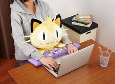 BANDAI Pokemon PC Cushion Cute Meowth Plush Stuffed Doll F/S Japan tracking New!