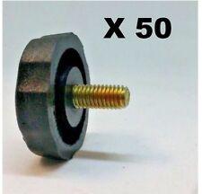 LOT OF 50 CRS KN5P BLACK PLASTIC 5mm CB, HAM.SCANNER RADIO BRACKET KNOBS