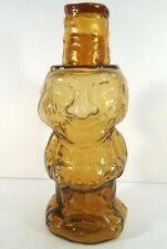 Jolly Mountaineer Decanter Amber Tiara Indiana Glass