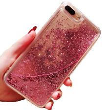 Dynamic Liquid Glitter Quicksand Clear Hard Phone Case For iPhone X 8 7 6S Plus