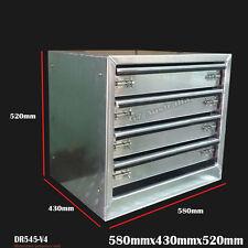Aluminium 4 Drawer Unit 580x430x520  toolbox tool storage a