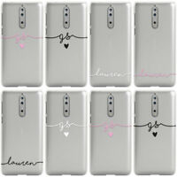 DYEFOR PERSONALISED HANDWRITTEN NAME CLEAR CUSTOM PHONE CASE COVER FOR NOKIA