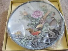 Collectable Chinese porcelain bird plate,original box,1