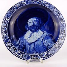 Blue Delft Wandteller Koninklijke Porceleyne Teller Plate nach Frans Hals