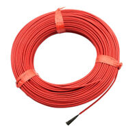 6k 12K 24k 33Ohm Teflon Carbon Fiber Heating Cable Floor Electric Wire 220v
