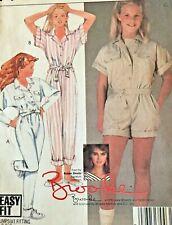 McCall's Sewing Pattern 8817 Girls Jumpsuit Brooke Shields M 8-10 Uncut
