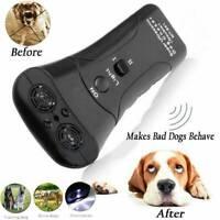 Ultrasonic Dog Stop Barking Train Repeller LED Control Trainer Anti Bark Device