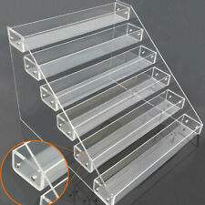 2-6Tier Clear Acrylic  Display Shelf Showcase Action Figure Bauble Cosmetics new
