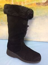 Rhombus Women Boots  Plaid With Rabbit Fur Warm Boots SIZE 8.5