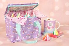 Unicorn Cool Bag Mini Cooler Pranzo Box Arcobaleni Viola Unicorni isolato regalo