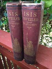 Blavatsky , ISIS UNVEILED .. all original first edition