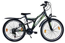 24 Zoll Mountainbike 18 Gang Shimano vollgefedert 24 Zoll Fahrrad mit Licht