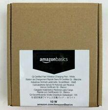 AmazonBasics Ultra-Slim 10W Qi Certified Fast Charging Wireless Pad - White