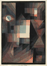Paul Klee Reproduction: Abstract. Red/Green Gradation - Fine Art Print