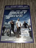 Fast Five (Blu-ray/DVD, 2011, 2-Disc Set, Rated/Unrated Not Sealed