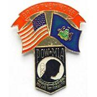 US Flag with Pennsylvania Flag POW*MIA Pin
