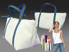 New VINTAGE LACOSTE Cosmetics Make Up Bag Pouch Tote Pop 7 White