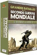 Grandes batailles de la Seconde guerre Mondiale Coffret 5 DVD Neuf sous cello