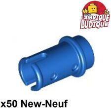 Lego technic - 50x pin axe axle clip clips 1/2 bleu/blue 4274 NEUF