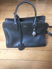 Alexander McQueen Padlock Satchel Hunter Green Women's Bag