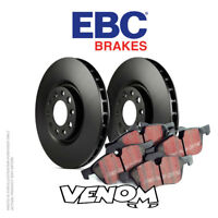 EBC Rear Brake Kit Discs & Pads for Toyota Auris 1.4 TD (NDE180) 2012-