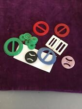 Lot of 8 Various Colors Vintage BUCKLES Colored Plastic ladies mother of pearl