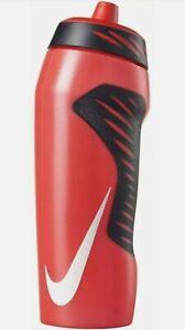 NIKE Hyperfuel 32oz Squeeze Water Bottle BPA-Free Red/Black