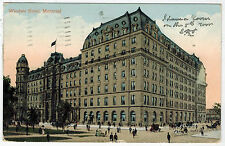 Windsor Hotel in Montreal, sent in 1910 from Canada to England
