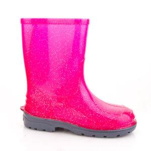 LEMIGO Kinder Gummistiefel Regenstiefel Elza Pink mit Brokat