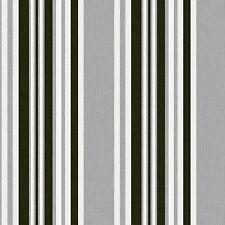 Marrakech-debona-papier peint texturé tissu à rayures-Gris / Noir 2327