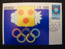 France MK 1968 OLYMPIA Olympics maximum carta carte MAXIMUM CARD MC cm a9628