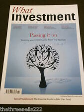 WHAT INVESTMENT #312 - PASSING IT ON - MARCH 2009