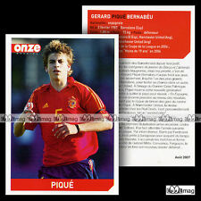 PIQUE GERARD BERNABEU (MANCHESTER UNITED) - Fiche Football 2007