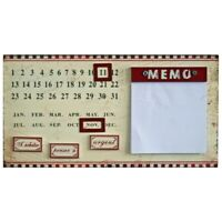 Metal Perpetual Wall Calendar With Magnetic Parts And Memo Pad by Originals