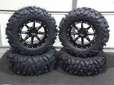 "POLARIS RZR 570 / 800 27"" QUADKING 14"" SLICER ATV TIRE & WHEEL KIT 523 BIGGHORN"
